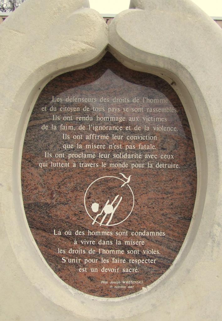 monument aux Droits de l'Homme