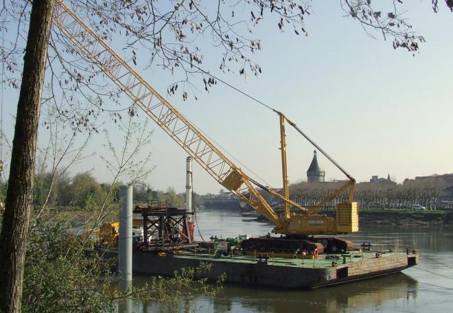 Un second ponton sur la Dordogne