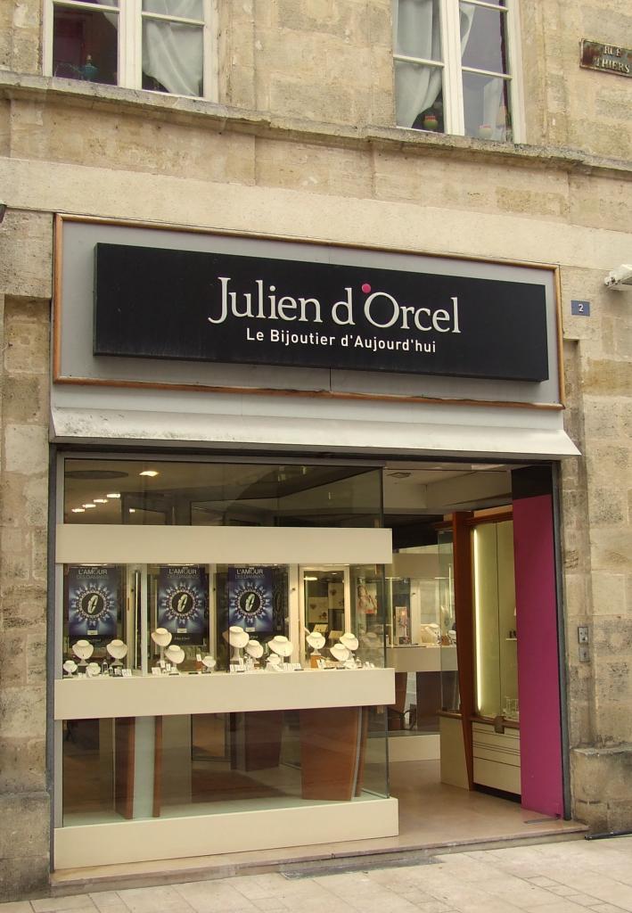 La bijouterie Julien d'Orcel