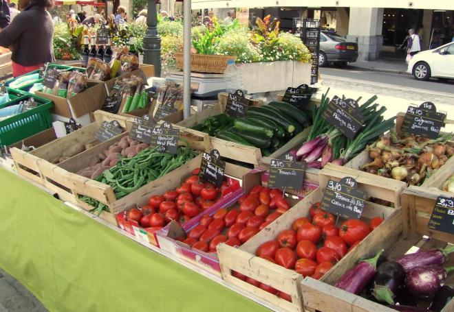 que des bons légumes de la propriété