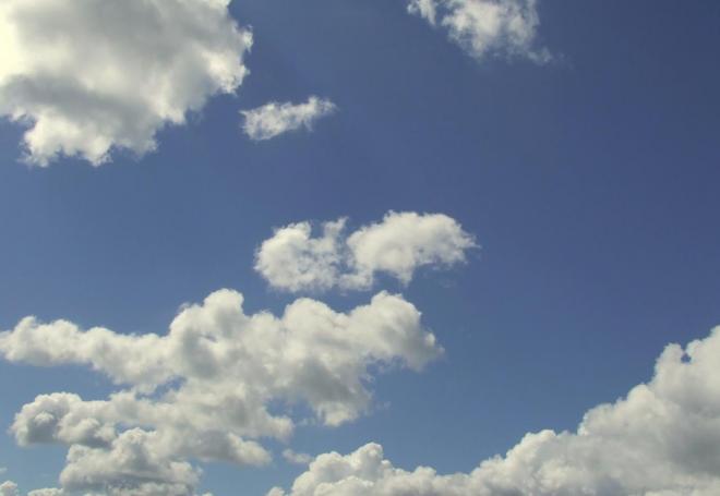 nuages sur la Dordogne