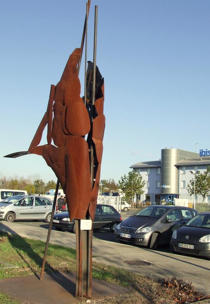 sculpture en fer aux Dagueys